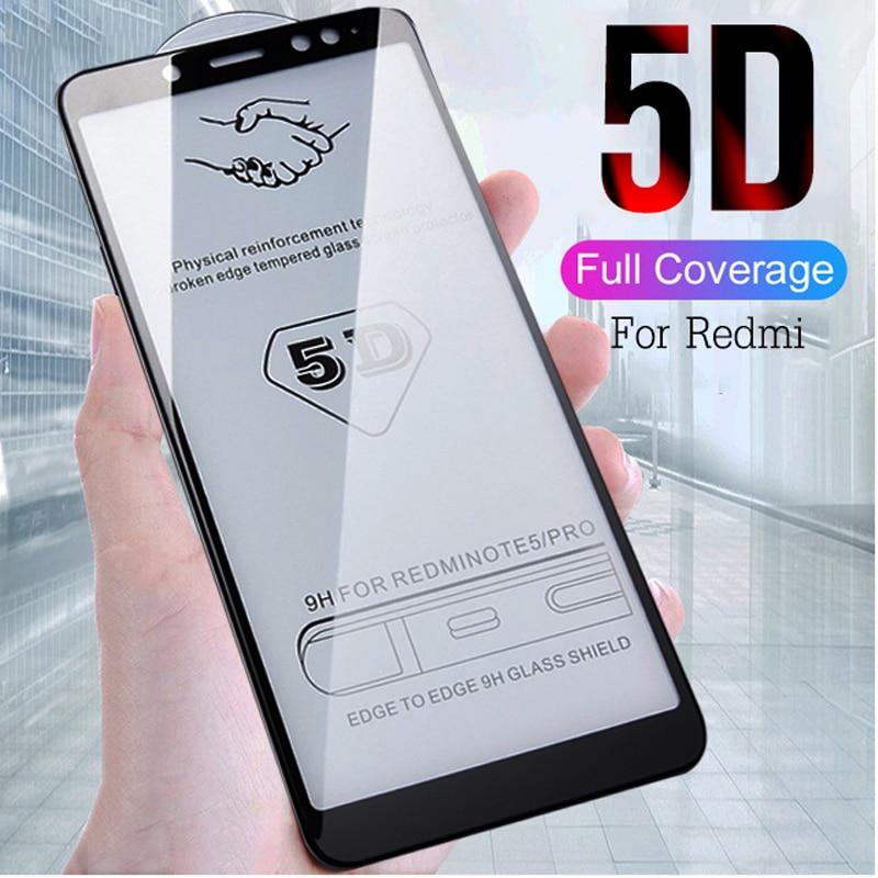 2pcs 5D Full Cover Tempered Glass For Xiaomi Redmi 5 Plus Redmi Note 5 6 7 Pro Screen Protector For Redmi 4X 6 Protection Glass