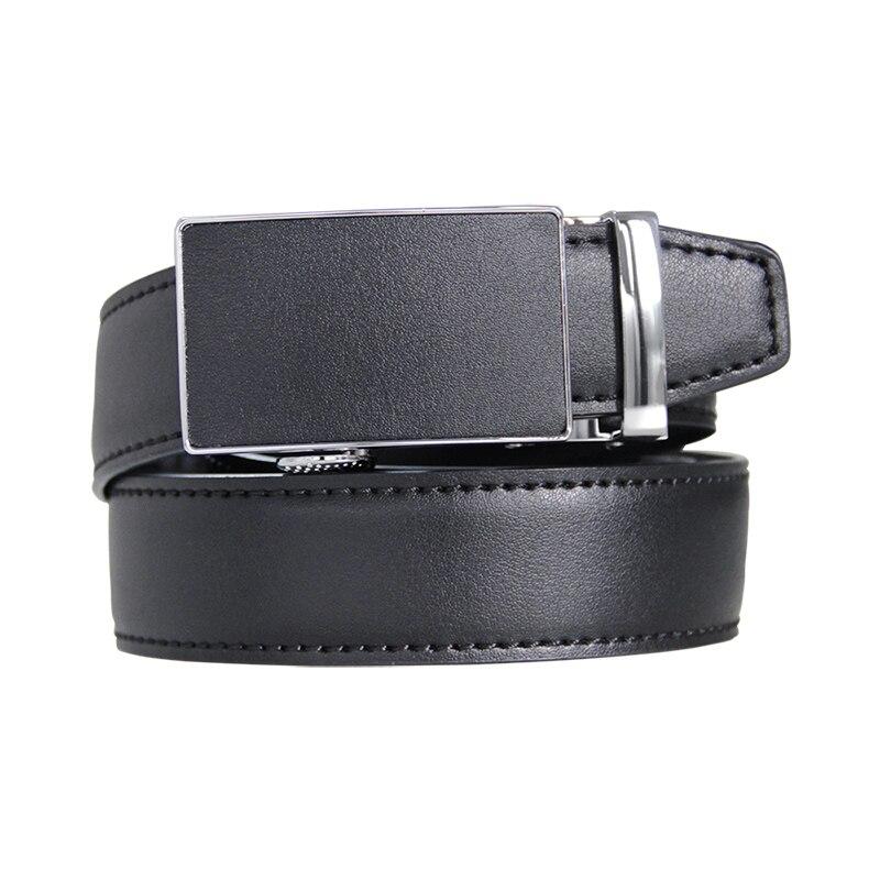 High Quality Men's Ratchet Click Belt Genuine Leather Dress Belt for Men Jeans Holeless Automatic Sliding Buckle Belts 2017new pgm golf belts men s genuine leather ratchet dress belt with alloy automatic buckle