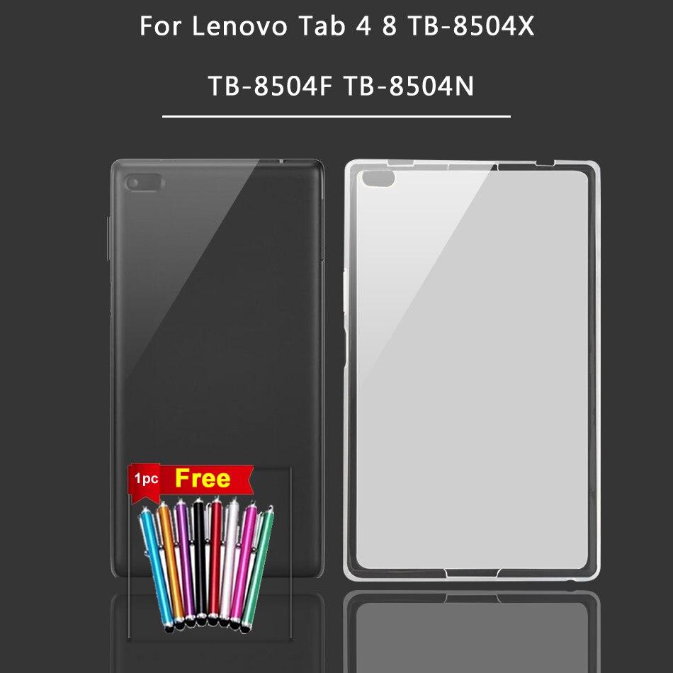 Классический силиконовый чехол для Lenovo Tab 3 4 8/8 Plus P8 TB3-850F TB3-850M TB 8703F/8704F/8804F/8504F Tab 2 A8-50F/50LC Tablet Cover