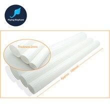 (50 cm/lot) od 20 25 30 40 50 60 70 80 100mm 2mm grosso leite branco tubo acrílico pmma para computador de refrigeração de água