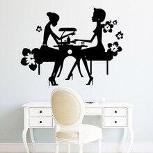Autocollant personnalisé salon de manucure Pvc Stickers muraux pour Salon de beauté décor Stickers muraux pour Salon vinyle papier peint
