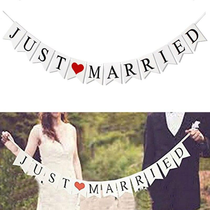 Cartel recién casados Mr Mrs guirnalda rústica Decoración de mesa de boda novio novia a ser globo pancarta de soltera suministros para fiesta