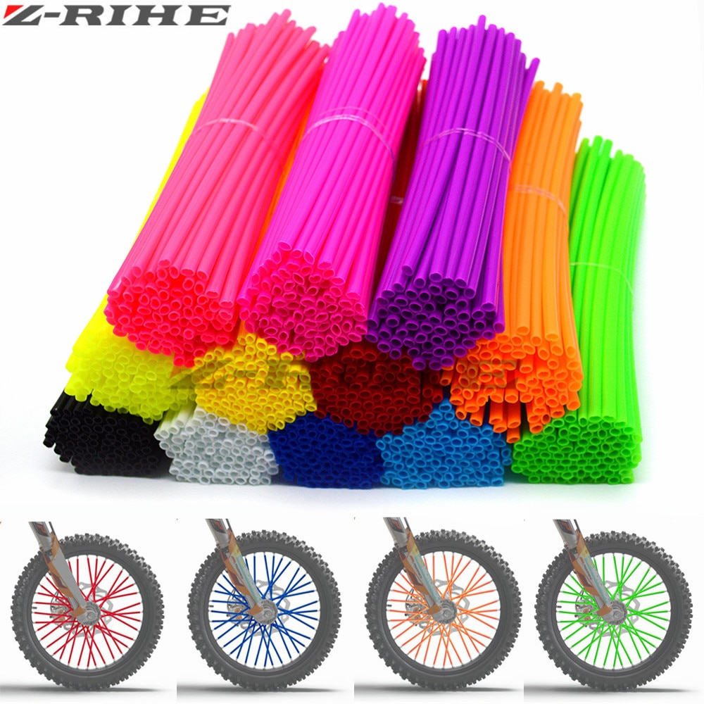 72 pcs Universal Moto Dirt Bike Enduro Off Road Wheel RIM Spoke Skins covers for EXC EXCF F 125 250 450 500 KAWASAKI
