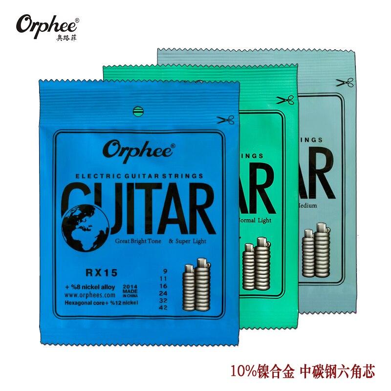 1 Satz von Orphee RX15/17/19 E-gitarre Saiten Hexagonal Kohlenstoffstahl 10% Nicketl Legierung ersten bis sechsten Saiten freies Verschiffen