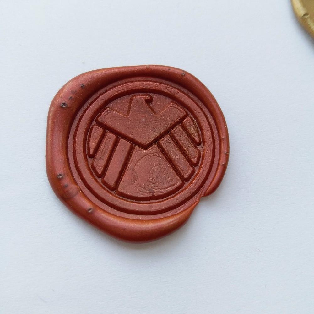 Agentes de Shield S H que E L D Sello de cera de sello de insignia, sello de cera de sellado con mango de madera