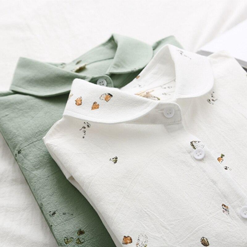 Verano de 2019 nuevo floral blusa de las mujeres y 100% camisetas de algodón lindo todo encuentro estilo literario dama blanca camisas prendas tops