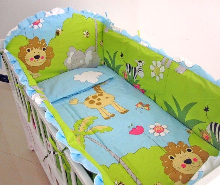 6 قطعة الطفل الفراش روبا دي Cuna أغطية الطفل الفراش الطفل السرير ورقة cosas الفقرة بيبي (4 الوفير + ورقة + غطاء وسادة)