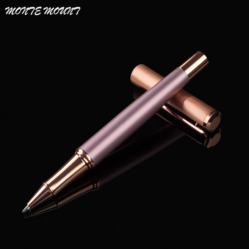 Роскошная золотая шариковая ручка с розовым золотом, школьные ручки, металлическая шариковая ручка для студентов, школьные принадлежности,...