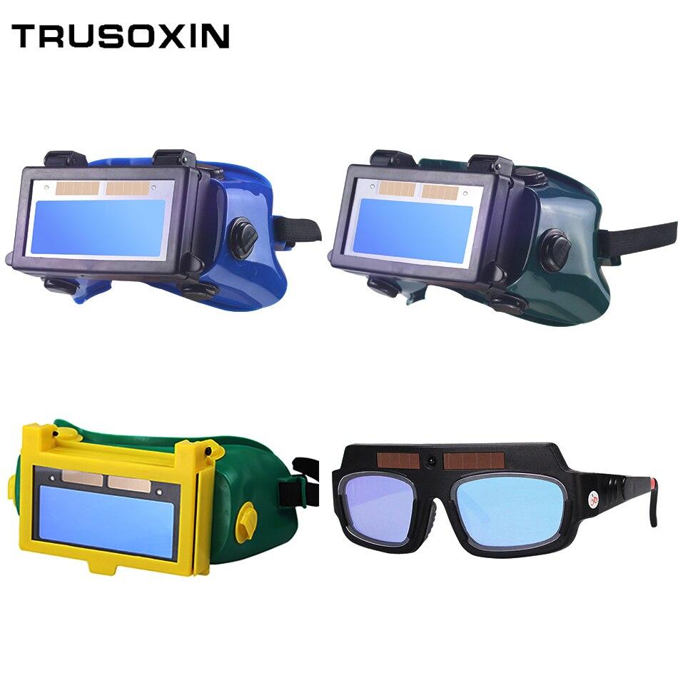 Solar Auto oscurecimiento de ojos Máscara de Soldadura casco de soldadura máscara de gafas/parche/ojos gafas para soldador de ojos