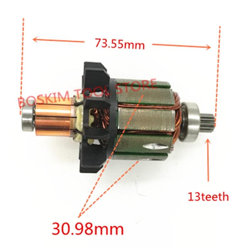 حديد التسليح 18V المحرك ل ماكيتا 619263-3 619287-9 DDF456Z DF456D DDF456RFE3 الدوار BDF456RFE DDF456 BHP456 BDF456 DDF456RME