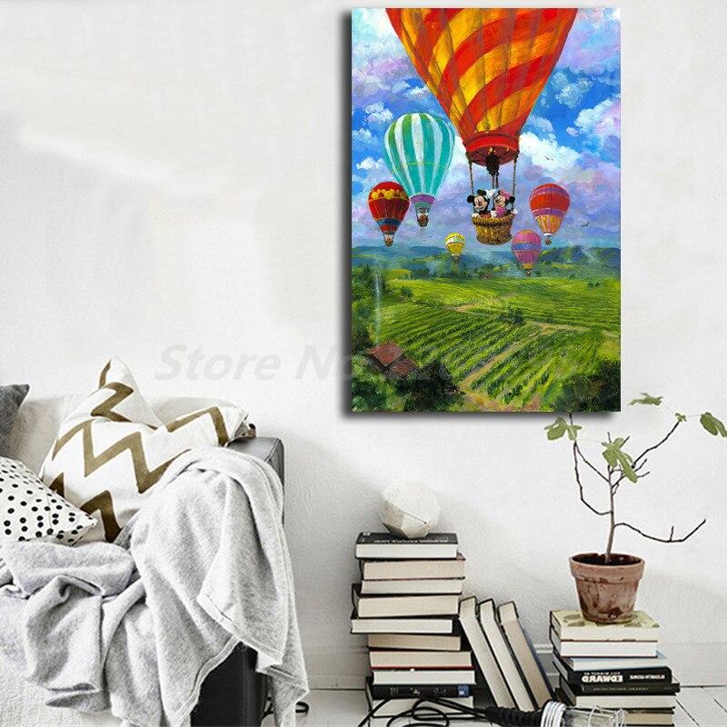 James Coleman Minnie Mouse ascendente sobre lienzo arte Napa Poster pintura impresión de imagen de pared Giclee decoración del dormitorio del hogar