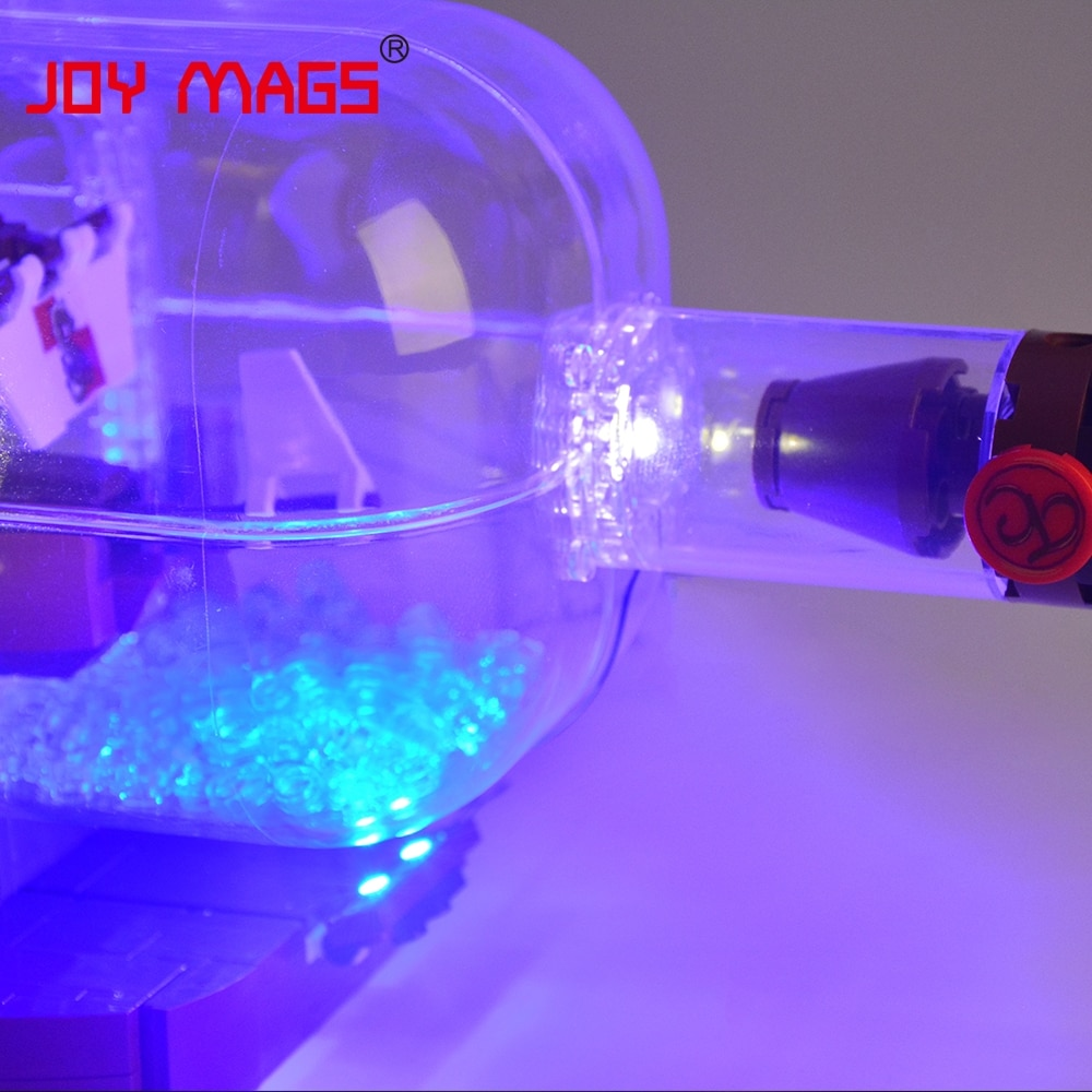 Купить с кэшбэком JOY MAGS Led Light Kit For 21313 Ideas Series The Ship In A Bottle Compatible With 16051/11050 , NO Block Model