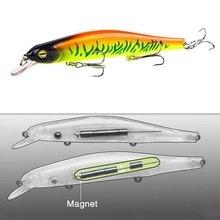 1 sztuk Fishing Lure Minnow 12.5cm/17.7g Topwater sztuczna przynęta 3D oczy plastikowe Wobblers Tackle Pesca Far-casting Magnet System
