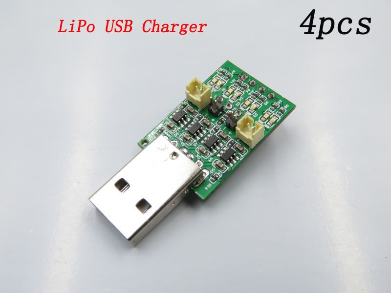 4 Uds 4CH Micro Lipo cargador de batería Mini USB módulo de carga de litio placa de circuito de potencia para DIY RC partes de modelo