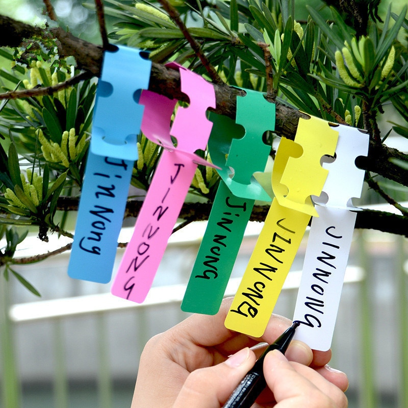 5000 шт./лот пластиковые прочные подвесные бирки для растений, водонепроницаемые УФ-стойкие этикетки для садоводства