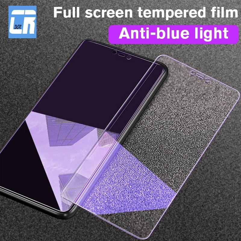 Protector de pantalla de cristal para Xiaomi 9 8 SE 2.5D, cristal templado para Redmi 5 6 7 Note 7 8 Pro, película protectora contra la luz azul