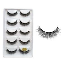 100% Real Mink Fur Messy 3D False Eyelashes Fake Eye Lashes Big Eye Volume Popular Multi Layer Eyela