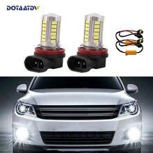 DOTAATDW 2x H8 H11 سيارة Canbus لمبات عاكس مرآة تصميم الضباب أضواء لا خطأ لأودي A3 A4 A5 S5 A6 Q5 Q7 TT