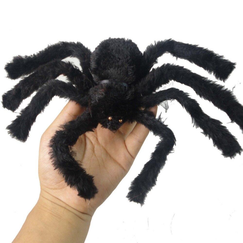 1 шт. Новый Хэллоуин ужасный большой черный пушистый поддельный паук Хэллоуин украшение паук дом с привидениями реквизит для внутреннего уличного декора реквизит