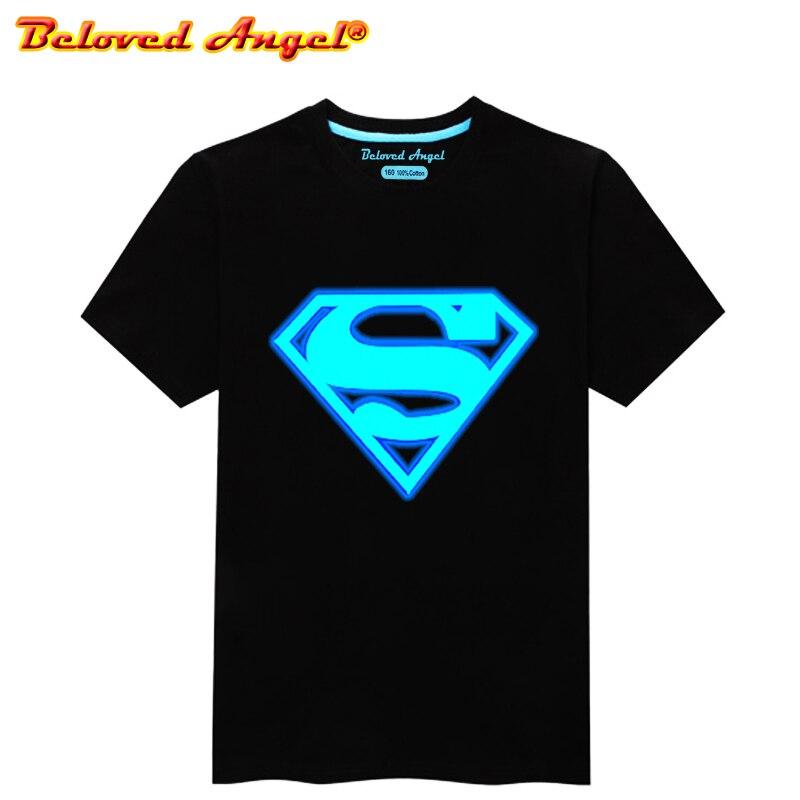 Children Clothing T-Shirt For Boys Fashion T Shirt Teen Luminous Cotton Tops Teenage Girls Short Sleeve Kids Clothes Tshirts