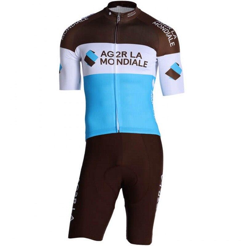 2019 pro equipe ag2r uma peça ciclismo skinsuits bicicleta bodysuits mtb trisuit ropa ciclismo bicicleta speedsuit maillot gel almofada