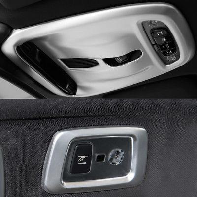 Embellecedor de lámpara domo de cortesía de techo delantero y trasero mate ABS para Volvo XC90 15-18/XC60 18