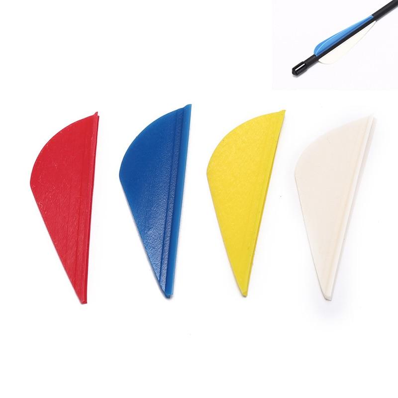 10 Uds 2 pulgadas DIY Fletching flecha Vans pluma de flecha de plástico Vans plumaje para Flecha tiro con arco