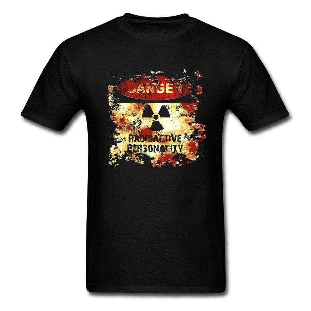 Radioactive Mans Danger T-shirt Vintage Design Fashion Tee Shirts Short Sleeve Top Custom For Friends