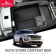 Smabee Carro caixa apoio de braço central Para Ford Explorer 2011 ~ 2019 SUV 2018 2017 Acessórios Centro Console Organizador Estiva Tidying