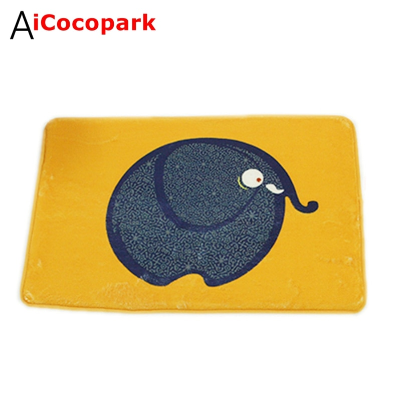 NiceRug-سجادة على شكل فيل أسود غير قابلة للانزلاق ، لباب المدخل ، غرفة المعيشة ، غرفة الأطفال ، غرفة النوم ، الحمام