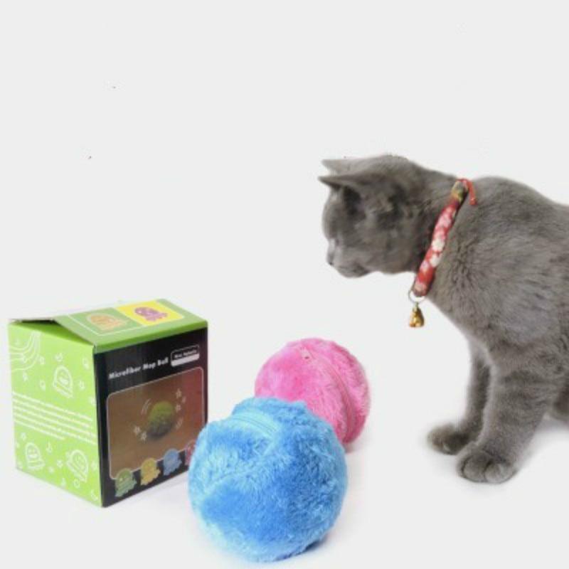 Nueva pelota de rodillo mágica práctica de moda juguete no tóxico seguro automático rodillo bola mágica perro gato mascota juguete interactivo