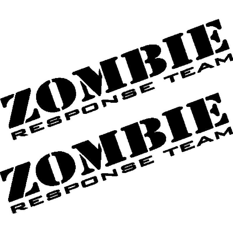 New 16CM*13.5CM Zombie Response Team Zombie Apocalypse Vehicle A Sticker A Pair Vinyl Decals Styling Black/Sliver C8-