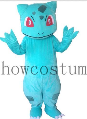 Disfraz de Halloween, BULBASAUR, Pokemon, disfraz de pikachu, mascota, vestido de lujo para adultos