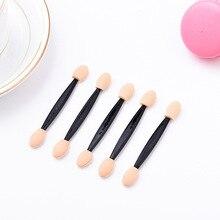 50 pcs/lot jetable Double extrémité éponge maquillage applicateur Eyeliner ombre à paupières brosse à lèvres Comestics outils électriques Top qualité
