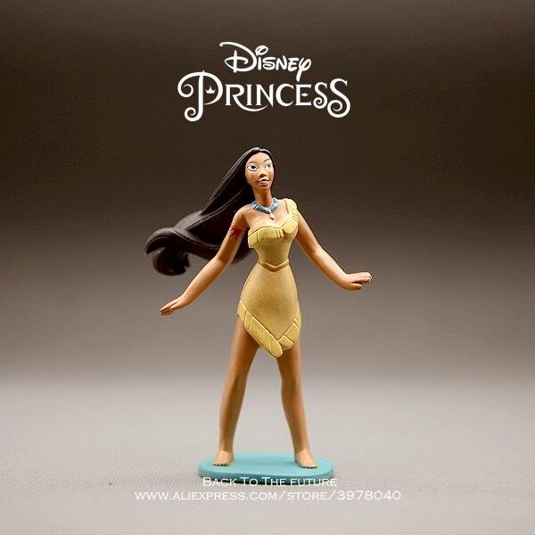 Figuras de Princesas de Disney Pocahontas Matoaka, minimuñeco de acción de 10cm, figura de Anime en miniatura, modelo de juguete para niñas y niños