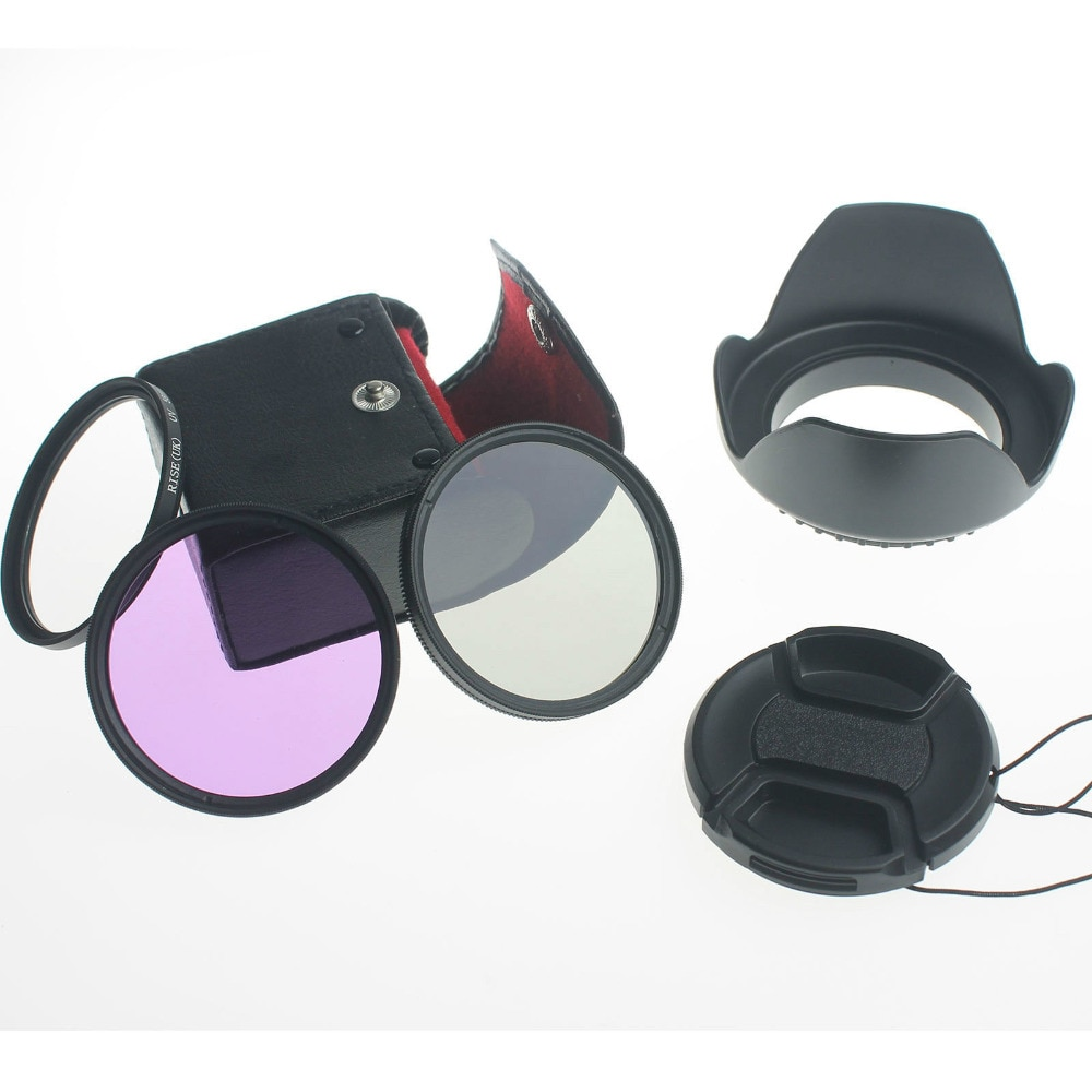 67MM aumento Reino Unido UV CPL FLD filtro + Kit de lentes capucha para Canon/Nikon 18-135mm lente de la