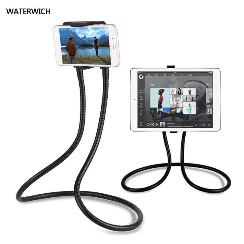 WATERWICH Preguiçoso Pendurado No Pescoço Colar Estandes de Telefone Celular Suporte para iphone Samsung Tablet de 360 Graus de Rotação Titular Telefone