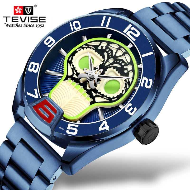 2019 Tevise Top Brand Men Mechanical Watches Automatic Stainless steel Watch Fashion Luxury Gold Coo