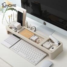 Organizador de escritorio, cubierta de teclado de oficina en casa, bastidores de almacenamiento de escritorio, papelería, portalápices, accesorios de oficina, caja organizadora