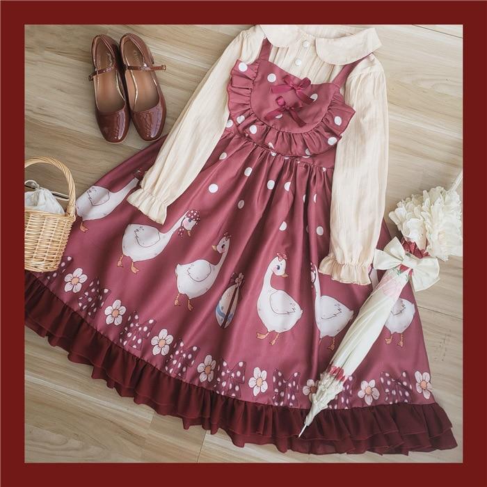 La sra. ganso ~ dulce impresa Casual Lolita vestido JSK