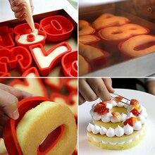 Nuevo molde Digital de silicona 0-9 para pastel, forma de números creativos, molde para Fondant, herramienta de decoración para bodas, cumpleaños, aniversario