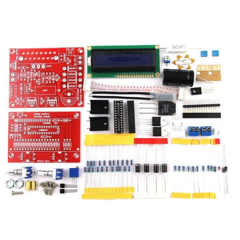 Kit DIY de fuente de alimentación regulada CC ajustable 0-28V 0,01-2A con pantalla LCD los valores fáciles de instalar