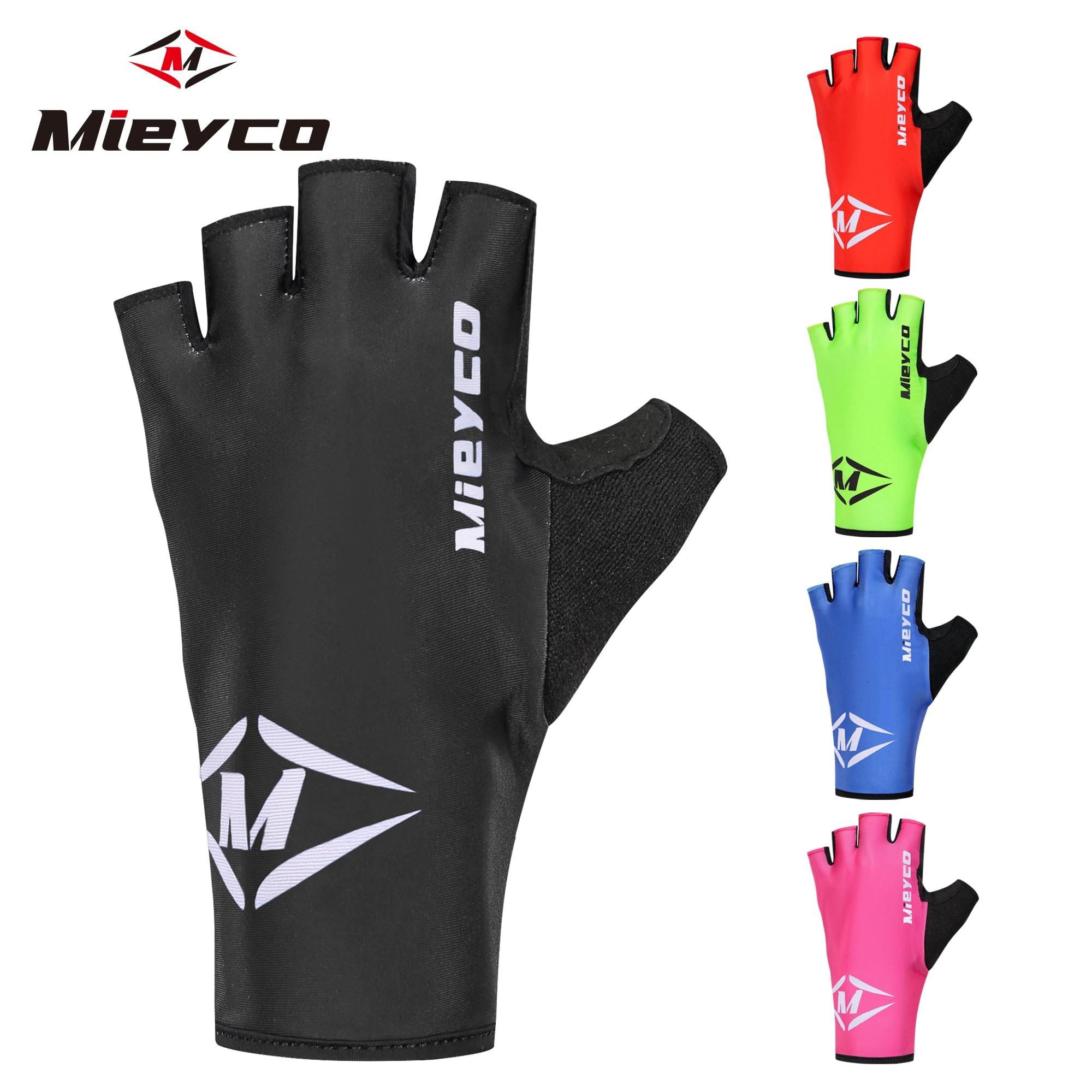 Guantes de ciclismo para exteriores, guantes de protección para bicicleta MTB, guantes lavables transpirables de medio dedo para carreras de montaña, guantes de gel antideslizante, 1 par