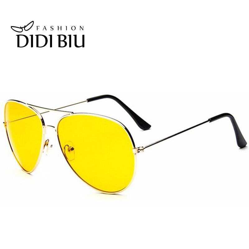 DIDI, gafas de sol de día y noche amarillas, gafas de sol de lujo para hombre y mujer, accesorios de gafas de aviador de gran tamaño, gafas de sol Hot Lunette W309