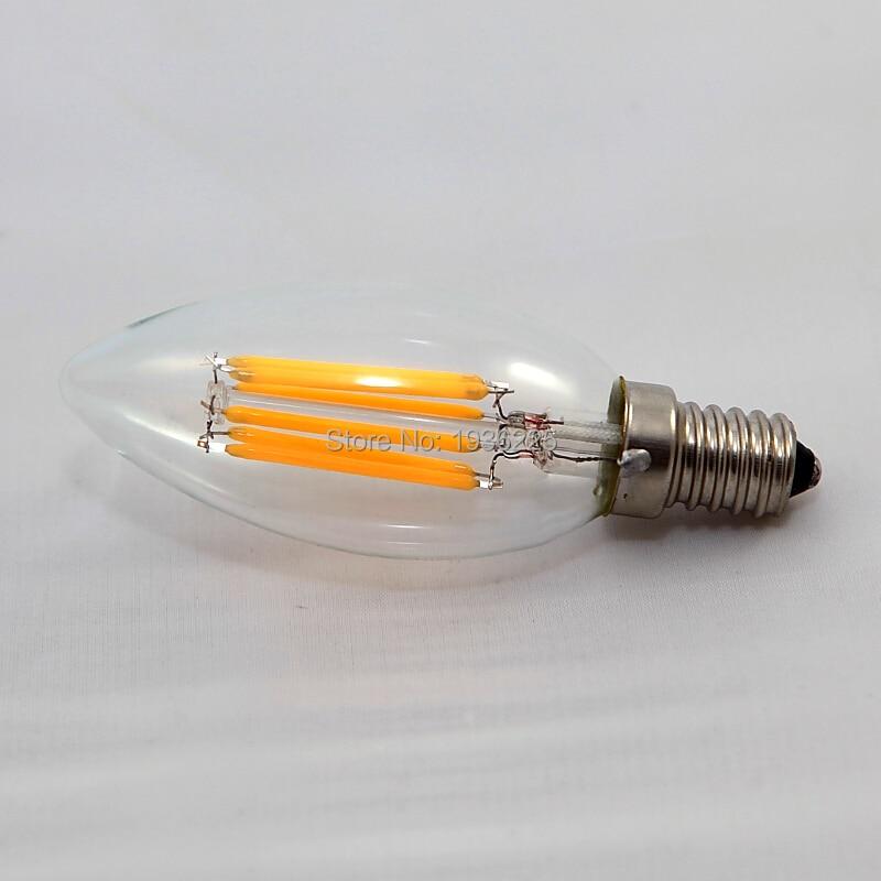 Freies Verschiffen (6 teile/los) dimmbare Led-lampe Lampe AC110V/220 V 6 Watt COB LED Filament Kerzenlicht E12 E14 E27 B22 B15D Energiesparende