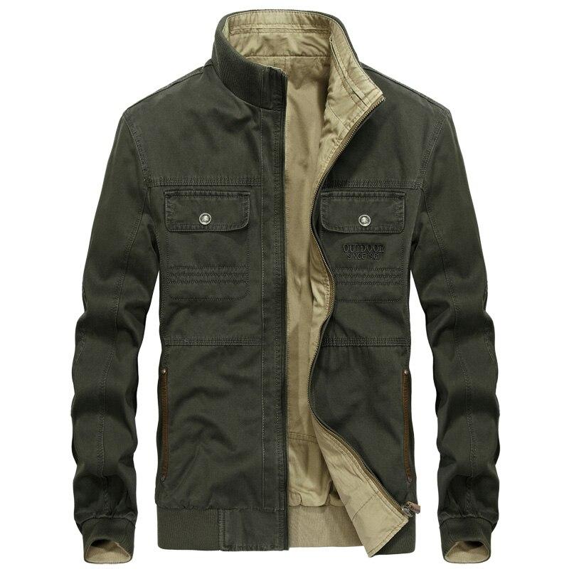 AFS JEEP veste hommes décontracté col montant réversible hommes veste chaqueta hombre Double-porter militaire armée vestes et manteaux