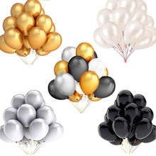 30 teile/los 12 zoll 10 zoll 5 zoll Gold Silber Schwarz Latex Ballons Geburtstag Hochzeit Party Decor Air Helium Globos kinder Geschenk Liefert