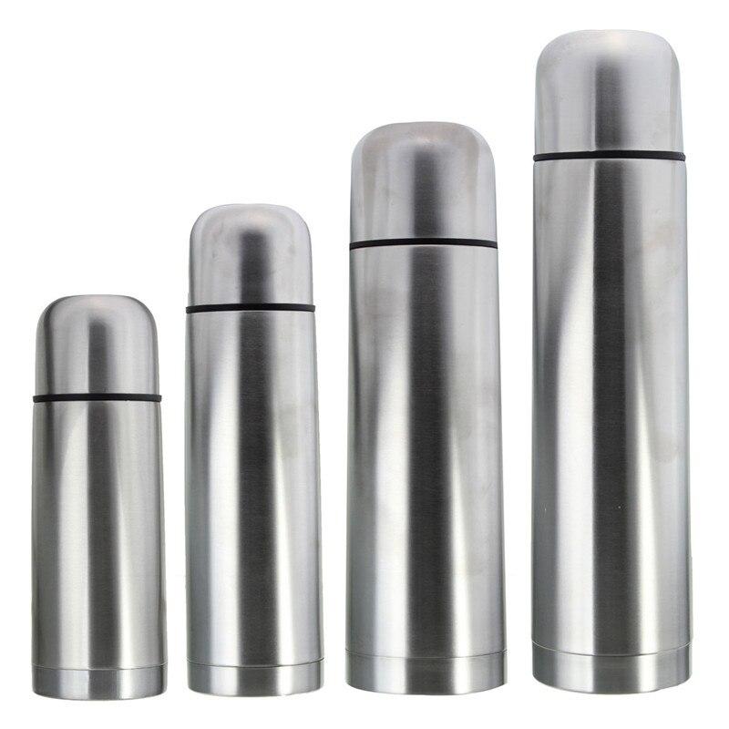 Frascos de vacío clásicos de acero inoxidable 1L sin Bpa, termos portátiles con aislamiento de doble capa, botella de agua térmica, té con cuerda