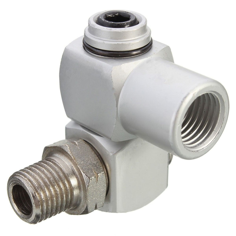 "Adaptador de conector de manguera de aire Universal 360 giratorio 1/4 ""BSP Flujo de aluminio"