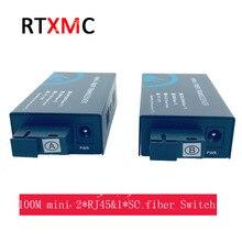 1 paire Mini 10/100 M 2UTP 2 * RJ45 & 1 * SC commutateur fibre optique unique 20 KM Ethernet Fiber optique convertisseur de média Port fibre unimode